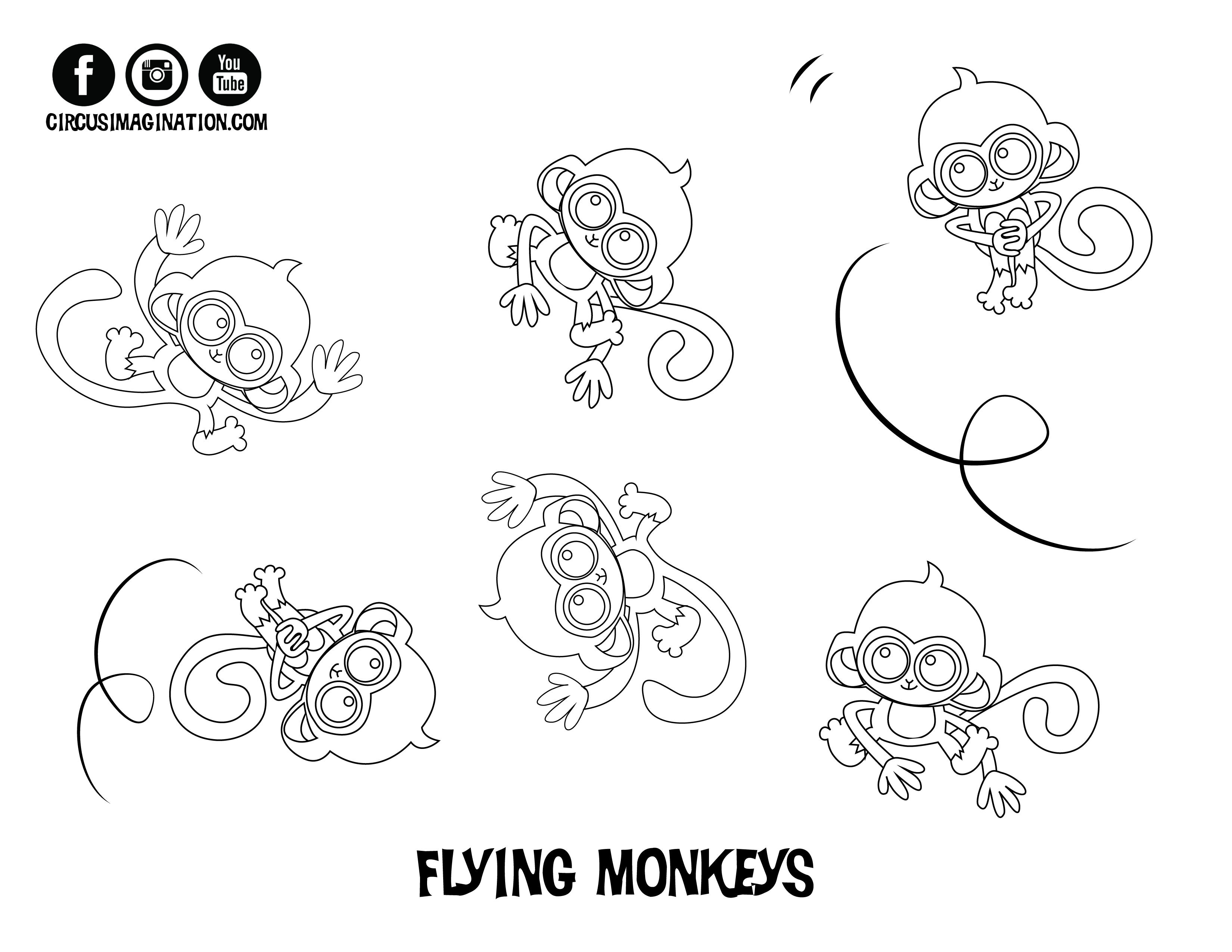play circus imagination play circus imagination five little monkeys coloring page - 5 Little Monkeys Coloring Page