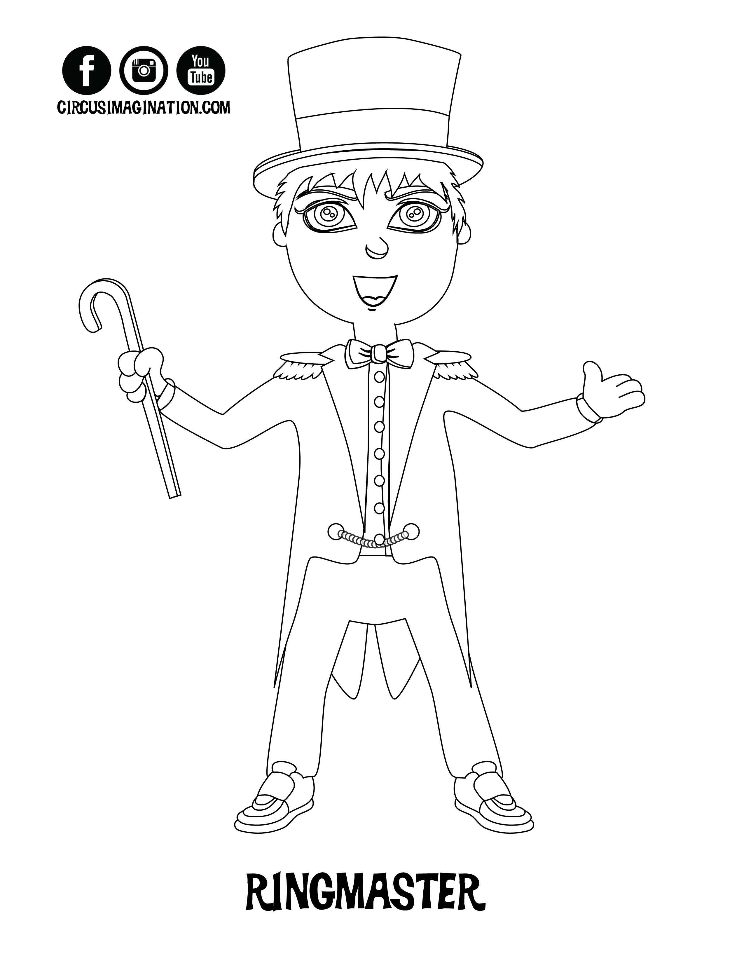 NEW! Exclusive Circus Printables! Coloring Pages and Crossword ...